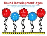 Speech Therapy Articulation Development Age Chart