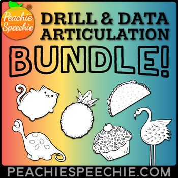 Speech Therapy: Articulation Drill and Data BUNDLE
