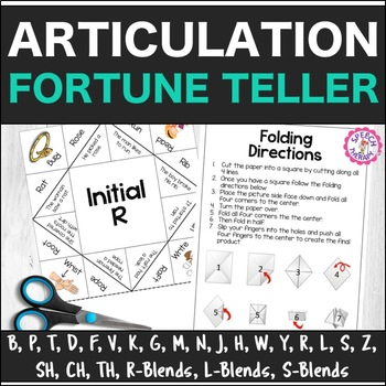 Speech Therapy Articulation Fortune Teller Origami By Speech Therapy