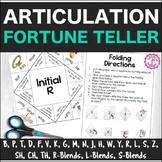 Speech Therapy Articulation Fortune Teller Origami
