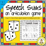 Speech Therapy Articulation Game for F and V Sounds