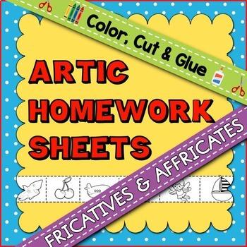 Articulation Homework Sheets: Fricatives & Affricates
