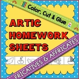 Articulation Homework Sheets: Fricatives & Affricates