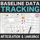Speech Therapy Articulation & Language Baseline Data Bundled