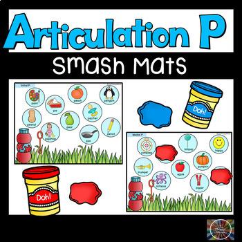 Speech Therapy Articulation P Bubble Smash Mats