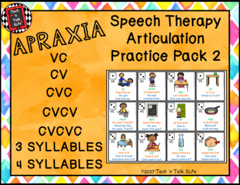 Speech Therapy Articulation Practice Pack 2 - Apraxia