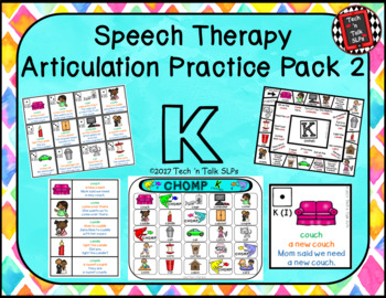 Speech Therapy Articulation Practice Pack 2 - K