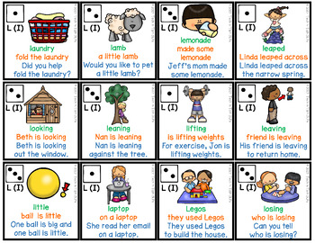 Speech Therapy Articulation Practice Pack 2 - L