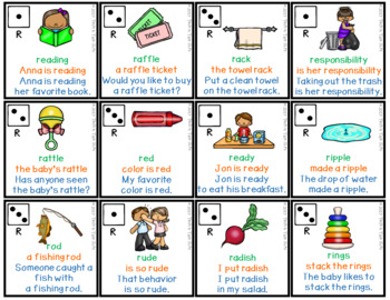 Speech Therapy Articulation Practice Pack 2 - PreVocalic R