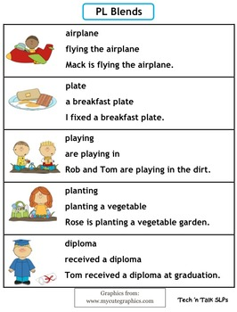 Speech Therapy Articulation Practice Pack for L Blends