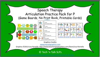 Speech Therapy Articulation Practice Pack for P