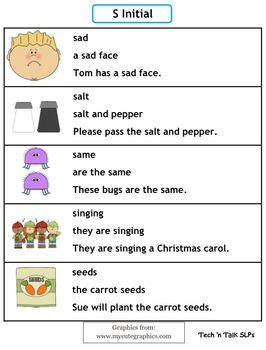 Speech Therapy Articulation Practice Pack for S