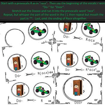 Articulation Card deck for Prevocalic to Vocalic R