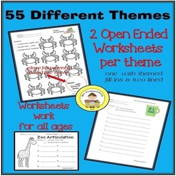Articulation Set for ALL YEAR Speech Therapy Bundle