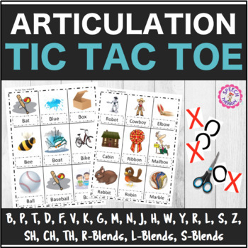 Speech Therapy Articulation Tic Tac Toe ALL SOUNDS