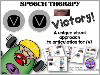 Speech Therapy Articulation /V/ graphic organizer visual initial medial final