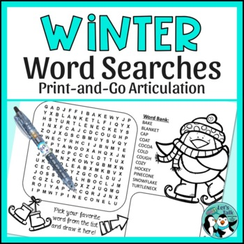 Speech Therapy: Articulation Word Search and Word Scrambles