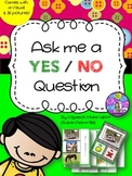 Speech Therapy Ask me a YES / NO question visual board 36 pictures