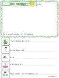Speech Therapy BACK TO SCHOOL What I did this summer worksheet drawing