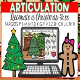 Speech Therapy Christmas BOOM CARDS | ARTICULATION  | Decorate a Christmas Tree