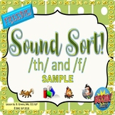 Speech Therapy BOOM CARDS FREEBIE Sound Sort TH & F Articulation - Teletherapy