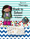 Speech Therapy Back to School Articulation R Games