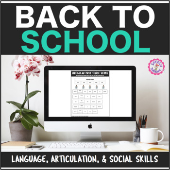 Speech Therapy Back to School Bundle: Language, Articulati