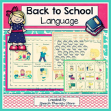 Speech Therapy Back to School Language