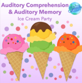 Bilingual Speech Therapy Basic Auditory Comprehension - Ice Cream Party