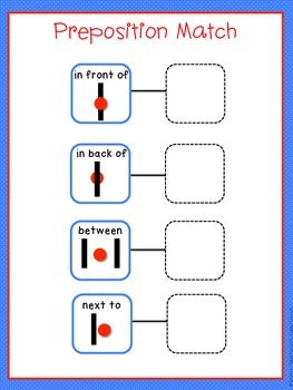 Speech Therapy Basic Preposition Match Activity Basic Concepts