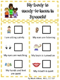 Speech Therapy Behavior Chart