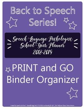 Speech Caseload Organization Pack