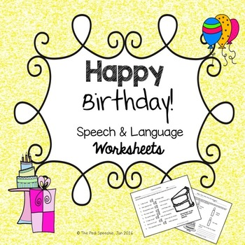 Speech Therapy Birthday