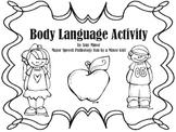 Speech Therapy: Body Language Freebie