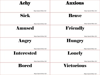 Speech Therapy: Body Language Freebie