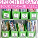 Speech Therapy Organization Book Bin Labels