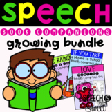 Speech Therapy Book Companions Growing Bundle