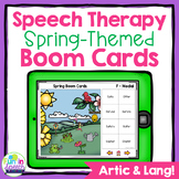 Spring No Print Speech Therapy Boom Cards for Distance Lea