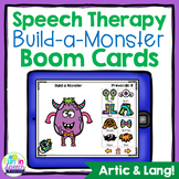 Build a Monster No Print Speech Therapy Boom Cards for Distance Learning