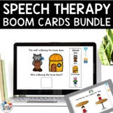 Speech Therapy Boom Cards Bundle | Distance Learning
