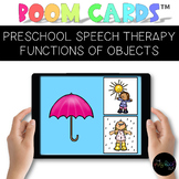 Speech Therapy Boom Cards™ Distance Learning: Functions of