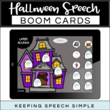 Speech Therapy Boom Cards - Halloween Themed