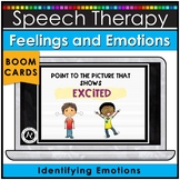 Boom Cards™ Identifying Feelings and Emotions Speech Therapy