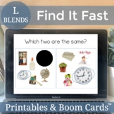 Articulation Boom Cards Speech Therapy Activity | L Blends No Print AND Digital