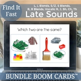 Boom Cards Speech Therapy Late Sounds Articulation Bundle No Print Activities