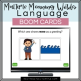 Speech Therapy Boom Cards - Multiple Meaning Words