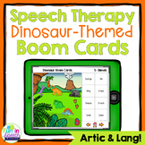 No Print Speech Therapy Boom Cards for Articulation and Language | Dinosaurs