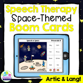 No Print Speech Therapy Boom Cards for Teletherapy | Space