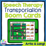 Transportation No Print Speech Therapy Boom Cards for Articulation and Language