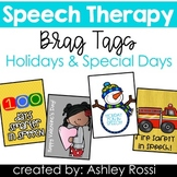 Speech Therapy Reward Tags: Holidays and Special Days